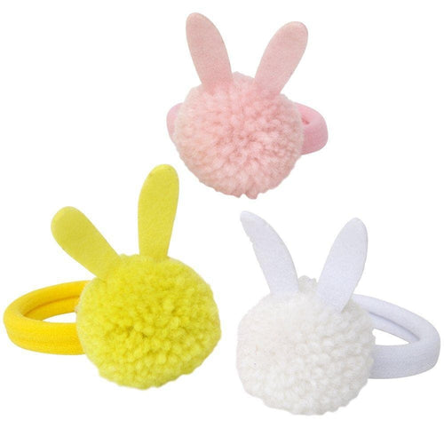 Bunny Pompom Hair Ties - WildLittleFawns