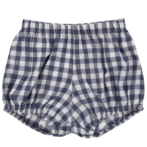 Poppy Bloomers Gingham Ink - WildLittleFawns