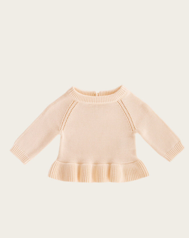Ava Knit Sweater Peachy Jamie Kay