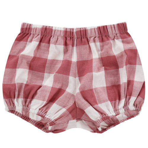 Poppy Bloomers in Textured Gingham Mulberry - WildLittleFawns