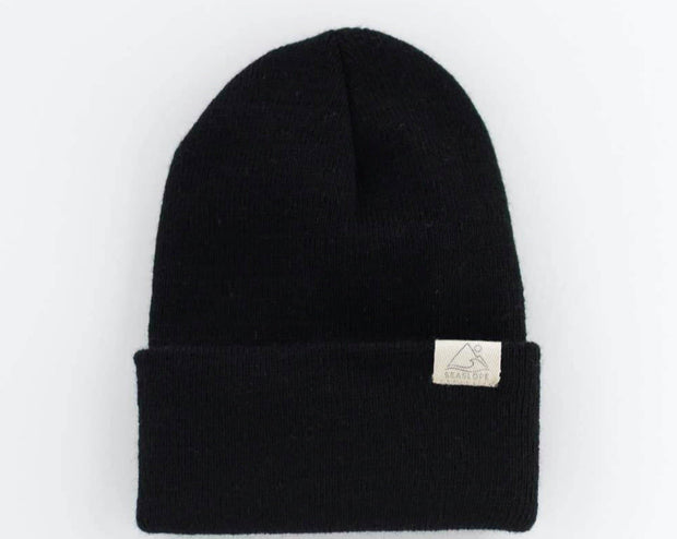 Jet Black Infant/Toddler Knit Beanie