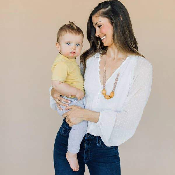 The Austin - Desert Taupe Teething Necklace
