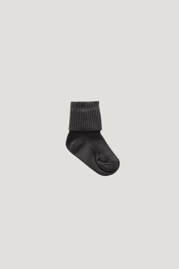 Ribbed Socks Dark Grey - WildLittleFawns