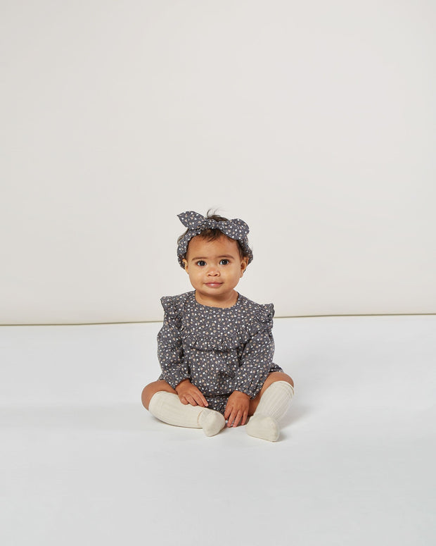 Baby Bow Headband - Washed Indigo Rylee & Cru