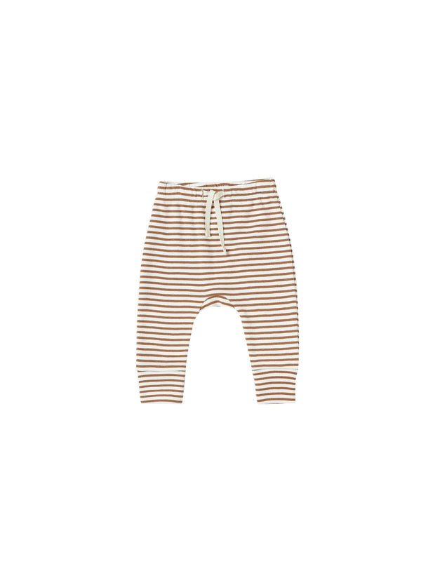 Drawstring Pant in Rust Stripe Quincy Mae