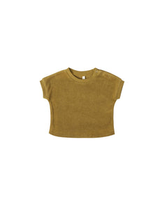Gemma Tee Terry Cloth in Ocre - WildLittleFawns