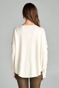 RAW SEAM SWEATER - WildLittleFawns
