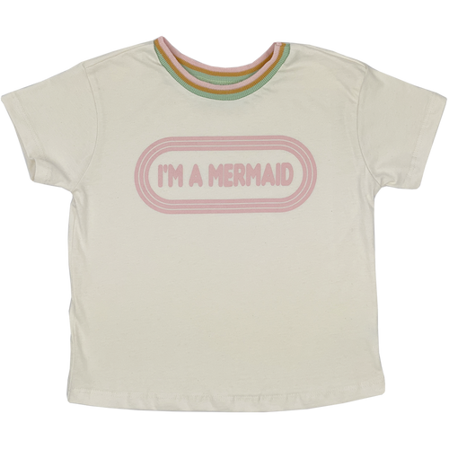 I'm A Mermaid Girls Boxy Tee - WildLittleFawns