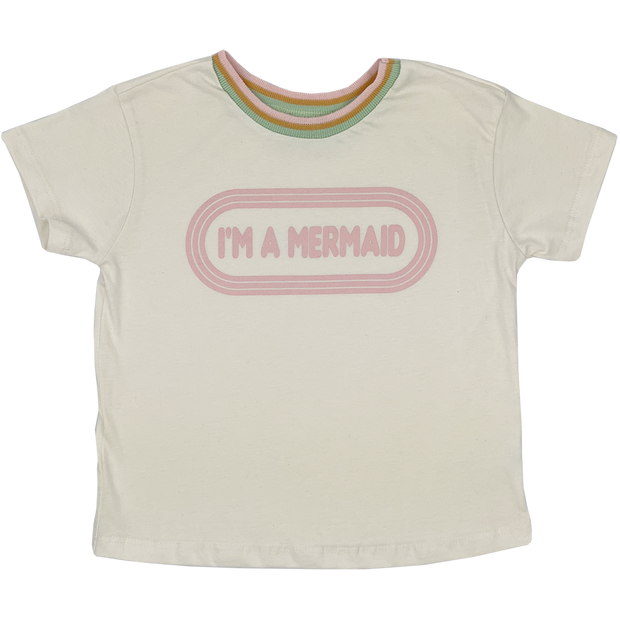 I'm A Mermaid Girls Boxy Tee Tiny Whales