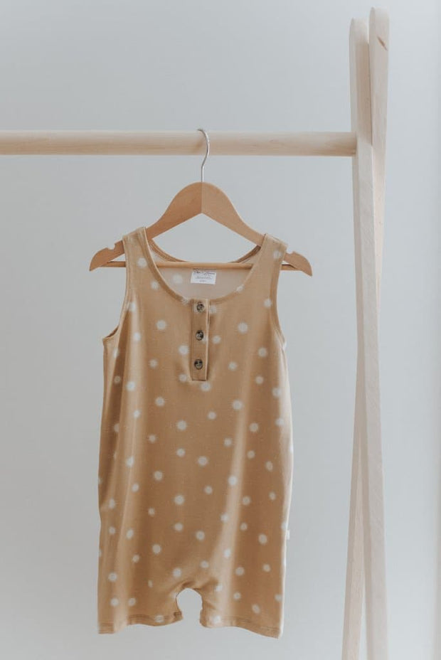 Shorts Romper in Speckled Sun - WildLittleFawns