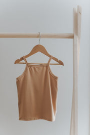 High Neck Tank in Caramel Jax and Lennon