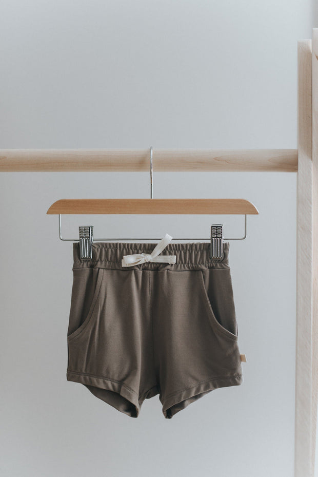 Vintage Shorts in Greige - WildLittleFawns