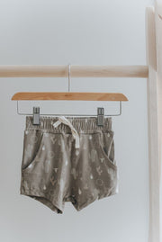 Vintage Shorts in Desert Cactus - WildLittleFawns