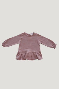 Slub Cotton Bailey Tee in Misty - WildLittleFawns