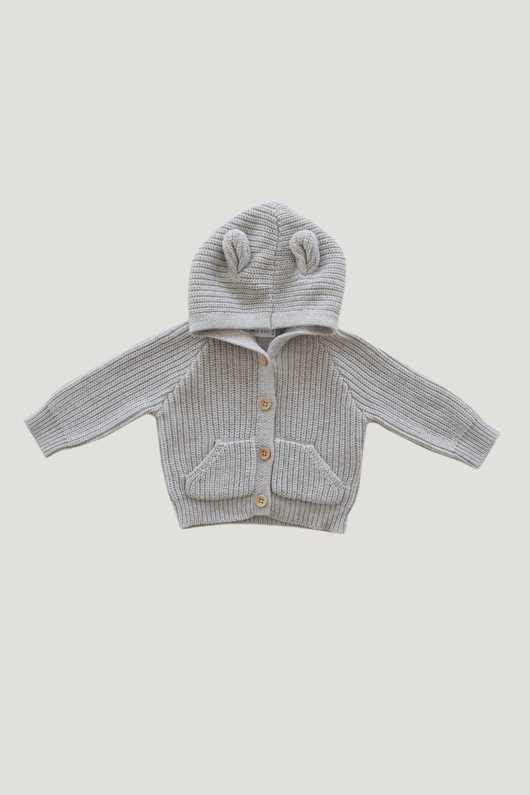 Bear Cardigan - Powder Fleck - WildLittleFawns