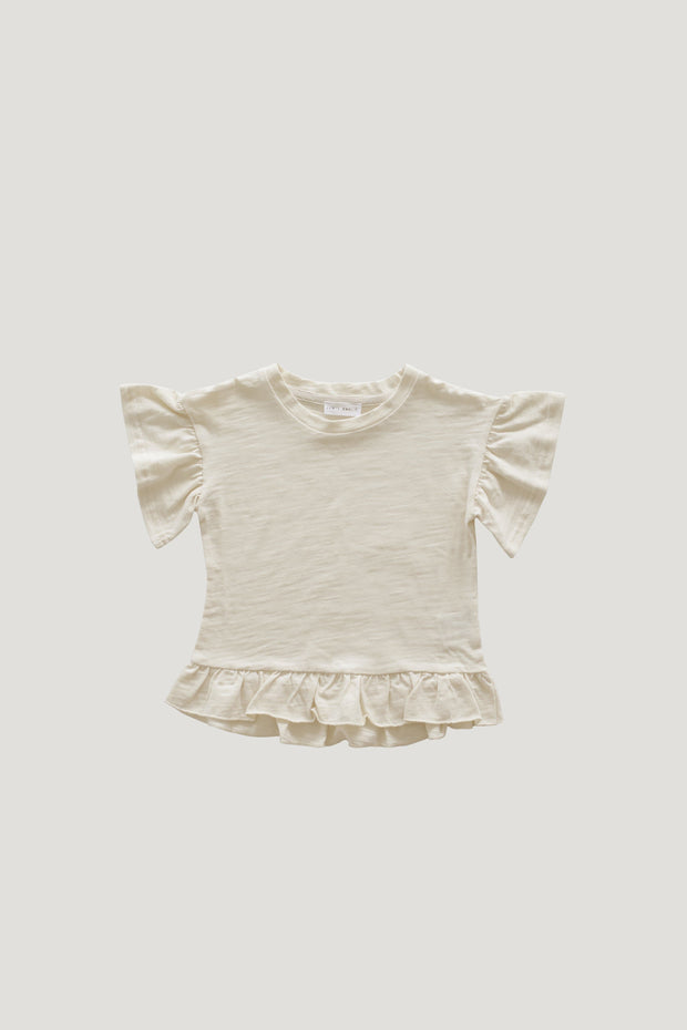 Slub Cotton Eden Top in Cloud - WildLittleFawns