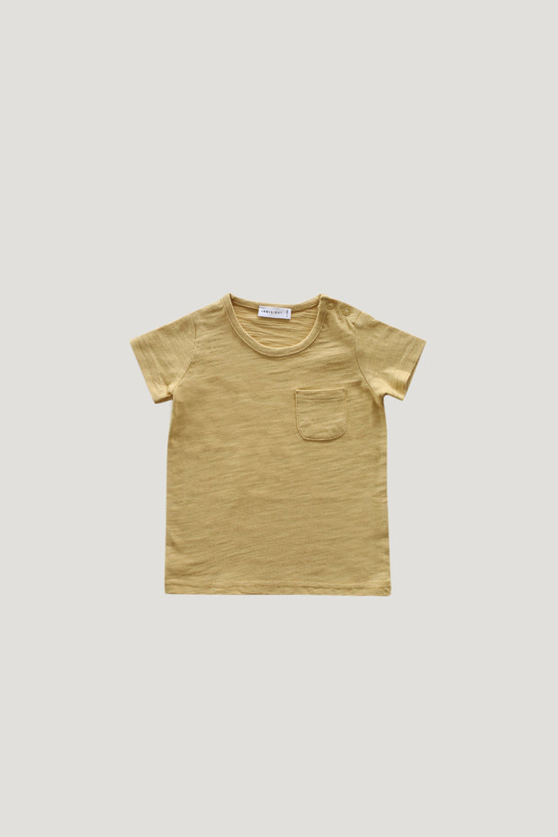 Slub Cotton Sam Tee in Barley - WildLittleFawns