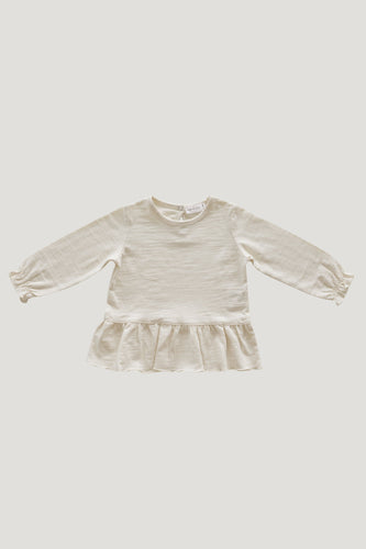 Slub Cotton Bailey Tee in Cloud - WildLittleFawns