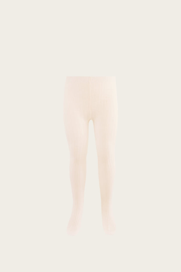 Ribbed Tights Peach Dust