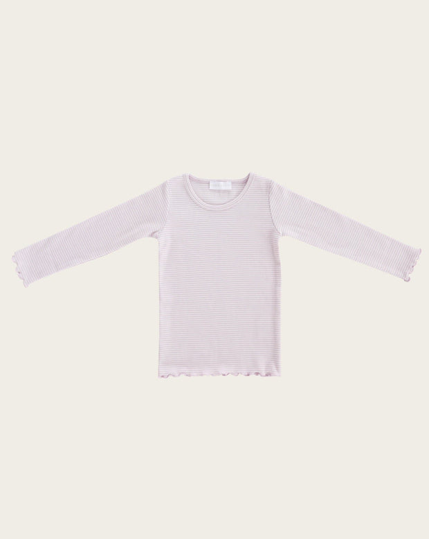 Madison Top Lavender Stripe