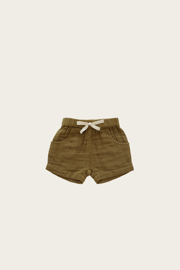 Organic Cotton Muslin lily short - GOLD - WildLittleFawns
