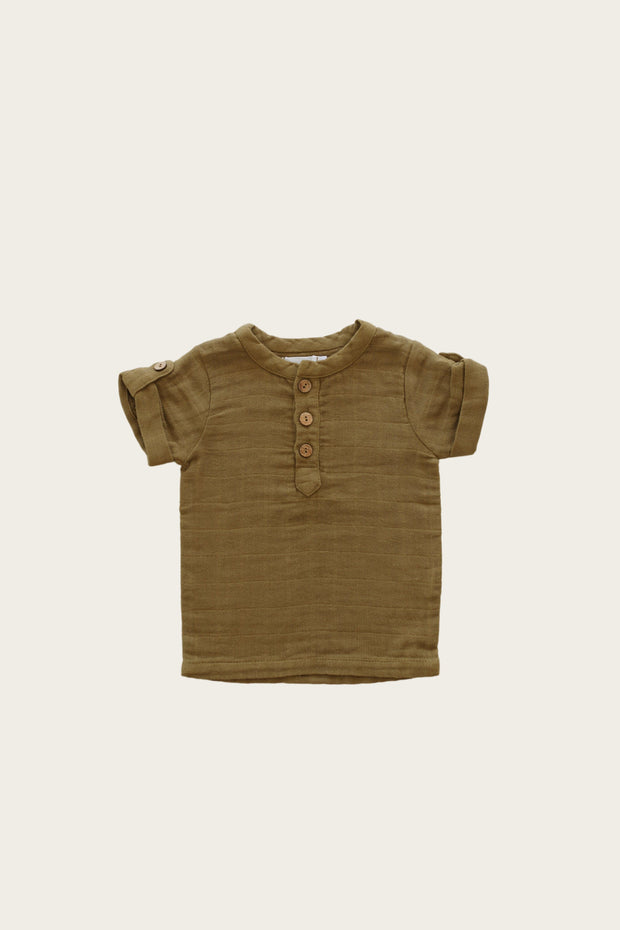 Organic Cotton Muslin Sammie Top - GOLD - WildLittleFawns
