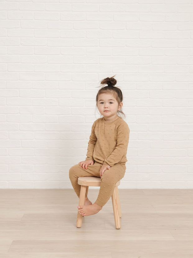 Organic Knit Baby Pant in Honey