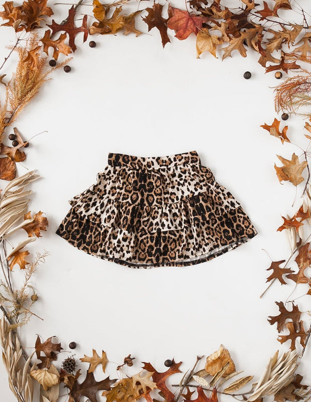Wild and Free Ruffled Leopard Skirt - WildLittleFawns