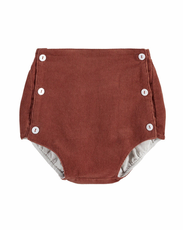 Folkstone Button Front Bloomers - Red