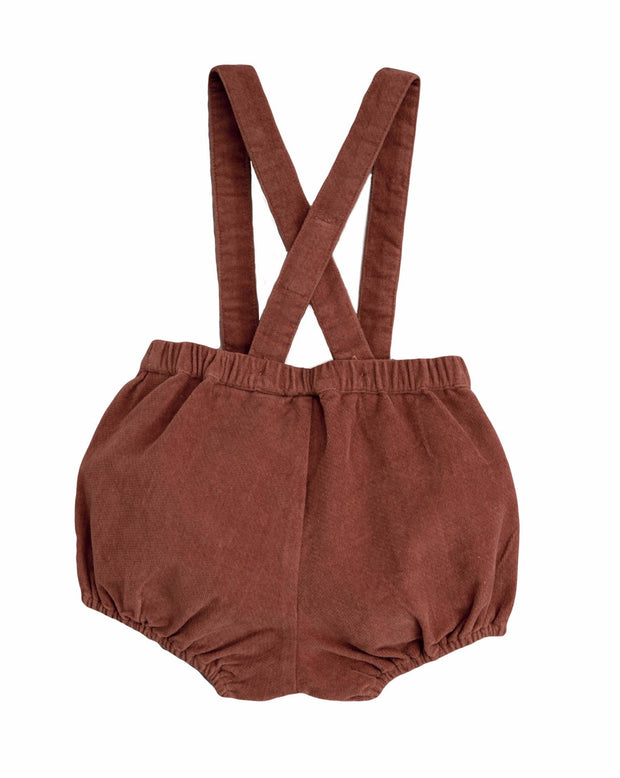 Hasting Bloomer Romper Clay Velvet Little Cotton Clothes