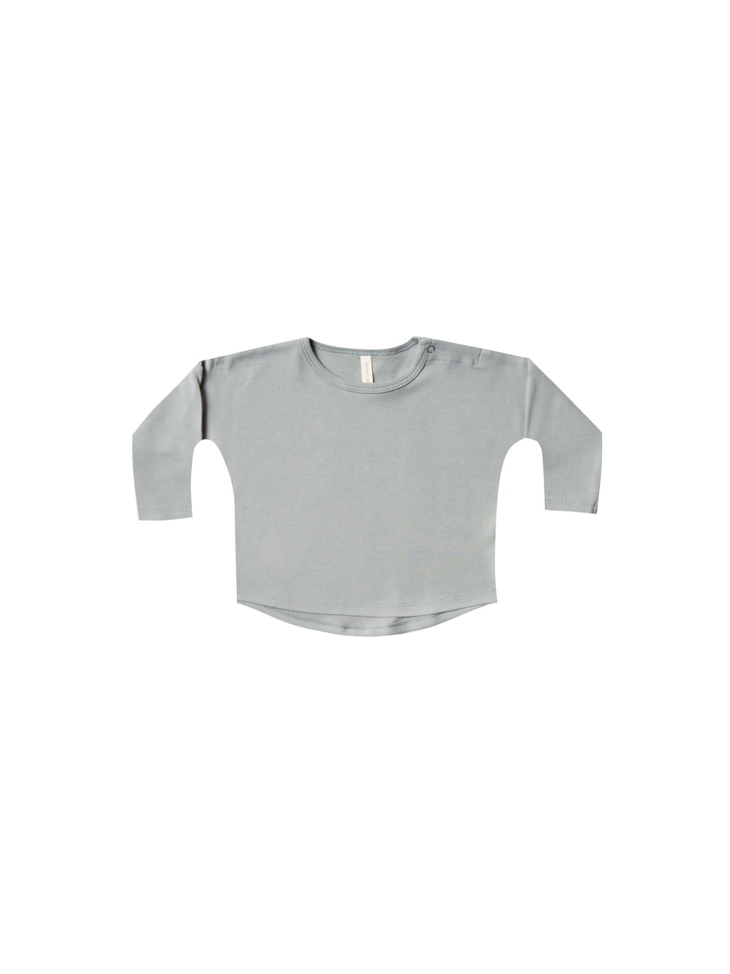 Longsleeve Baby Tee - Dusty Blue - WildLittleFawns