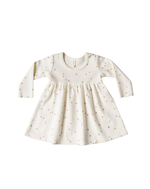 Quincy Mae Longsleeve Baby Dress - Ivory