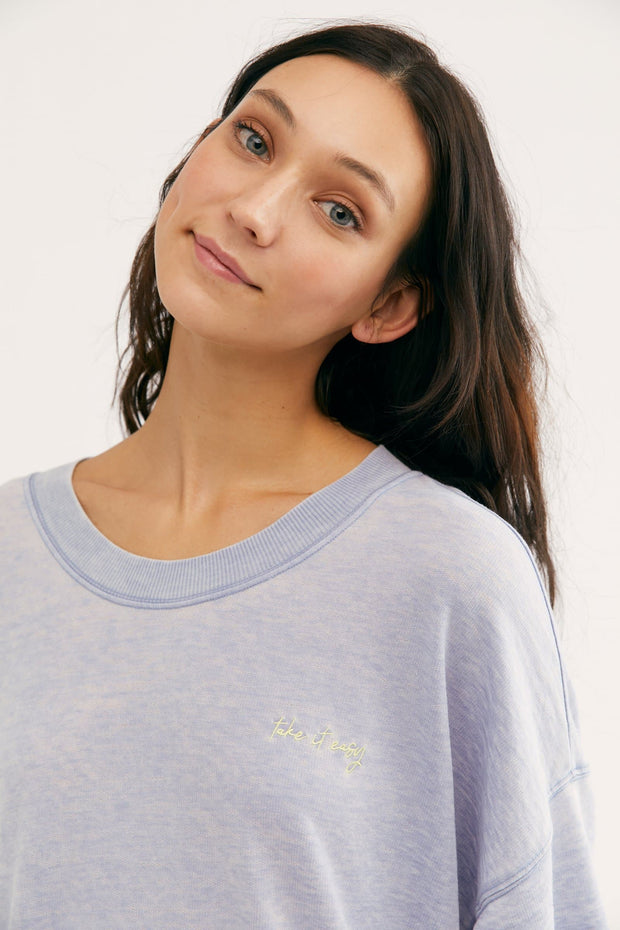 Cozy Cool Girl Tee in Ceramic Seafoam Free People