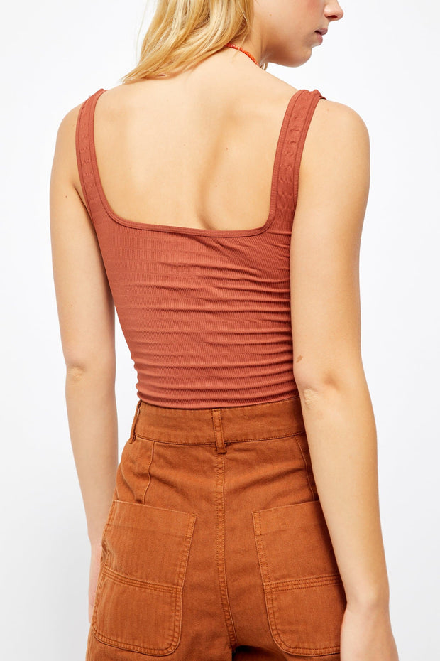 Square One Seamless Cami in Copper - WildLittleFawns