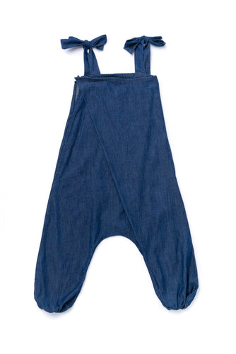 OMAMImini Chambray Pleated Jumpsuit - WildLittleFawns
