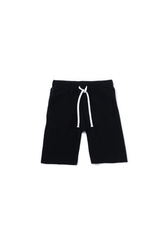 OMAMImini Terry Pull Up Shorts - Black - WildLittleFawns