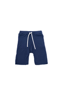 OMAMImini Terry Pull Up Shorts - Blue - WildLittleFawns