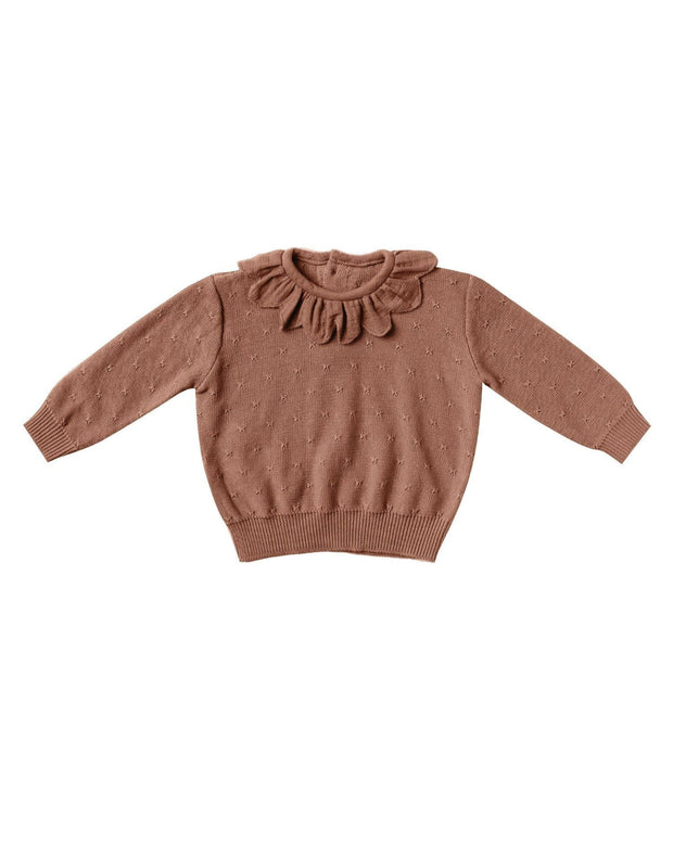 Petal Knit Sweater - Clay | Quincy Mae AW20 Drop 1