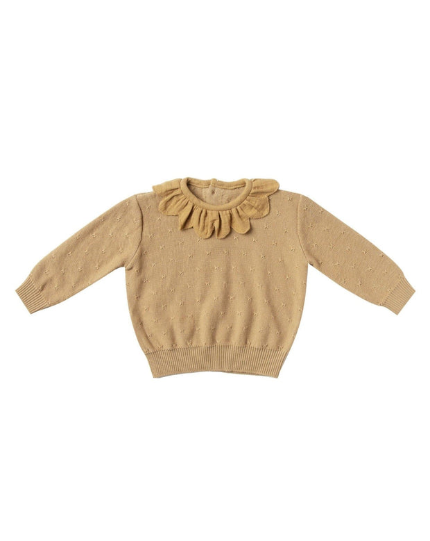 Petal Knit Sweater - Honey | Quincy Mae AW20 Drop 1