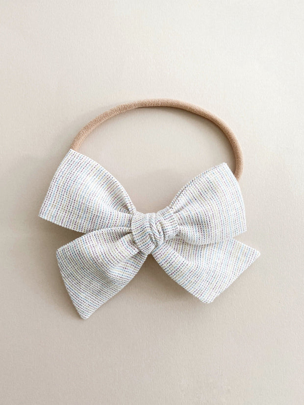 Multicolor Pinwheel Bow and Headband - WildLittleFawns
