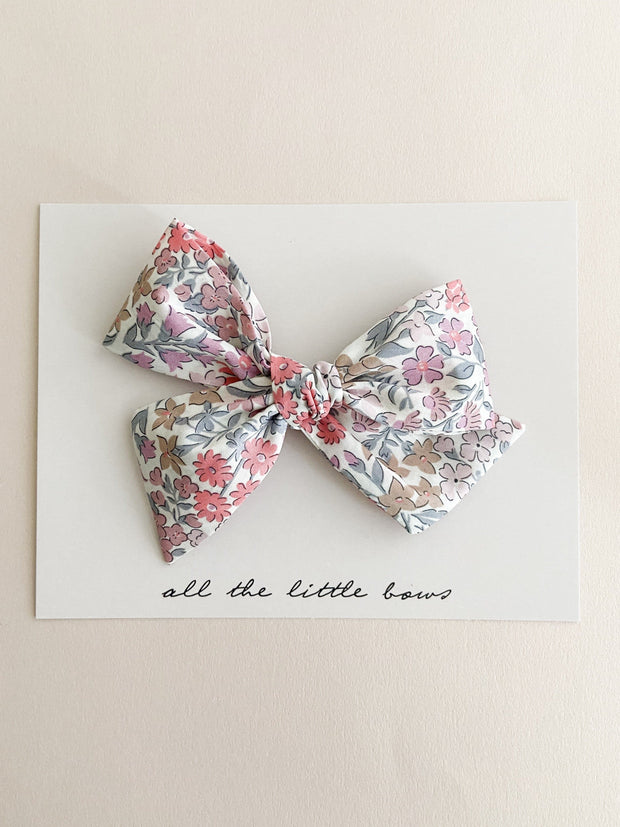 Multi Floral Pinwheel Bow and Headband - WildLittleFawns