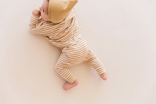 Drawstring Pant - Honey Stipe - WildLittleFawns
