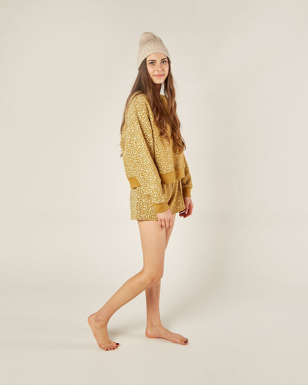 Womens Golden Berry Boxy Pullover - Goldenrod