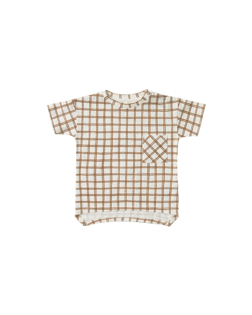 Grid Raw Edge Tee - WildLittleFawns