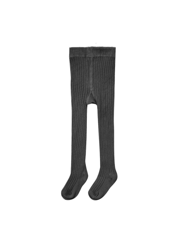 Rib Knit Tights - Vintage Black - WildLittleFawns