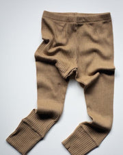 The Ribbed Legging - Camel
