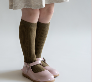 Olive Knee High Socks - WildLittleFawns