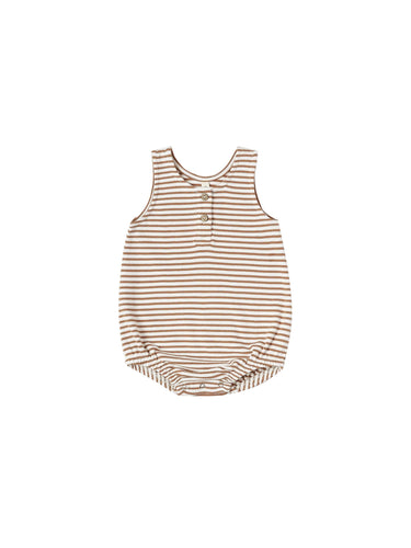 Sleeveless Bubble in Rust Stripe - WildLittleFawns