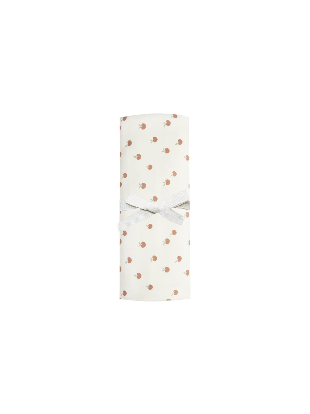 Baby Swaddle in Peach/Ivory - WildLittleFawns