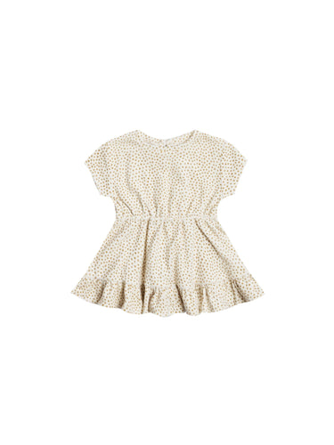 Terry Dress in Terry Cloth in Ivory - WildLittleFawns